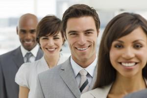 Closeup of Happy business group 6792437 Medium